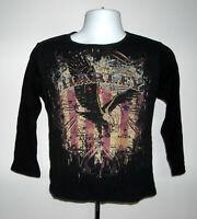 Harley Davidson Horny Toad Temple Texas Long Sleeve T Shirt Womens Medium bling