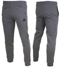 Adidas Men's Core 18 Fleece Cotton Sweat Pants Bottom Grey Size S M L XL 2XL