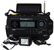 Wind Up Weather Emergency Radio w Flashlight, Solar Smartphone Charger, Blackout
