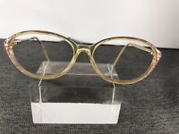 Sophia Lauren Eyeglasses 54-15-152 Italy Gold Frame D279