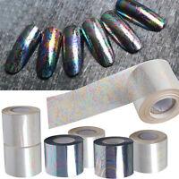 6 Roll Nail Art Foil Paper Gradient Starry Sky Manicure Sticker Tips 5x20cm  AU
