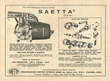 Vintage & Very Rare 1962 Saetta / Parilla Go-Kart Engine Ad
