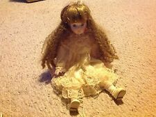 "Baby Doll with Porcelain ? Face, feet and hands.    15"" long.  Used."