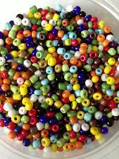 50 Gramos De Semillas De Vidrio Cuentas-mezclado Opaca-Aprox 3 Mm (tamaño 8/0) en color, Mix, Artesanales