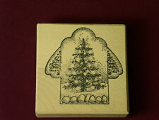 Toomuchfun ESP1 Project Box Christmas Tree cup Kate Darnell wood Rubber Stamp