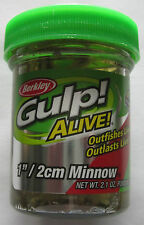 "BERKLEY Gulp! Alive!  Minnow - 1"" - 2 Ounce Jar - Smelt"