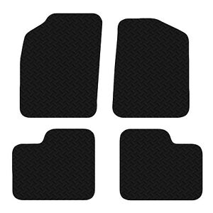 Fiat 500 2012+ Onwards Black Floor Rubber Fully Tailored Car Mats 3mm 4pc Set
