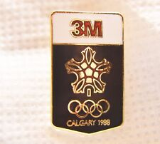 "3M OLYMPICS USA TEAM SPONSOR 1988 GOLDTONE 1"" METAL LAPEL PIN"