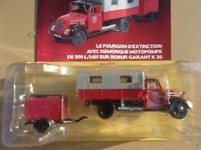 n° 78 ROBUR GARANT Camion POMPIER Fourgon avec Remorque Motopompe 1/43 Neuf NEW