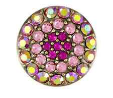 GINGER SNAPS™ BRASS RITZY-MULTI ROSE Jewelry-BUY 4, GET 5TH $6.95 SNAP FREE