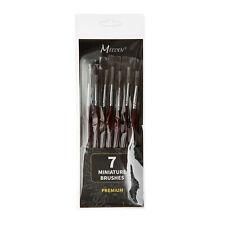 MEEDEN Professional Sable Hair Detail Paint Brush Set - 7 Miniature Art Brushes