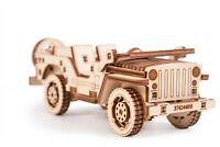 Wood Trick Jeep Car Model Mechanical Wooden 3D Puzzle Self Assembly Kit Gear Set