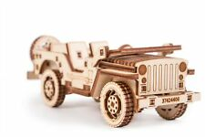 Wood Trick SUV Car Model Mechanical Wooden 3D Puzzle Self Assembly Kit Gear Set