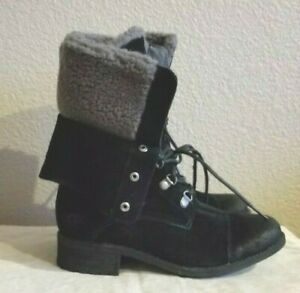 New Ugg gradin Wool Lined Combat water-proof boots. sz7.RT$199