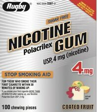 Rugby Nicotine Gum 4mg Coated Fruit 5 boxes 500 pieces