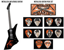 San Francisco Giants Metallica Inflatable Guitar and 5-Piece Guitar Pick Set Lot