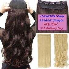 Thick One Piece Full Head Ombre Clip in Hair Extensions as Human 17-30inch Long