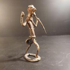 Sculpture bronze diable statue religion miniature fait main art déco N4274
