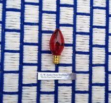Box of 24 ~ RED C7 twinkle blinker flashing CHRISTMAS LIGHT bulb 7w string lite