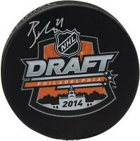 Brayden Point Tampa Bay Lightning Autographed 2014 NHL Draft Logo Hockey Puck
