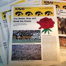 Iowa Hawk Talk News Letter 12 Isuues 1981-1982