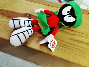 """1994 Marvin The Martian Looney Tunes 12"""" Stuffed Plush Toy By APPLAUSE"""