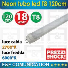NEON TUBO LAMPADA LED 120 CM T8 220V LUCE FREDDA LUCE CALDA OFFERTA