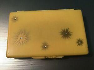 """VINTAGE 1950s Plastic Purse Size KLEENEX Tissue Holder 4 1/2 X 3"""""""