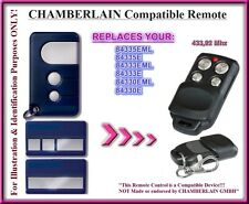 Chamberlain 84335E / 84330E / 84333E compatible télécommande 433,92Mhz