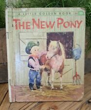 "The New Pony ""A Little Golden Book"" 1961 HC Book ""A"" First edition NY production"