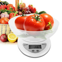 Multi-unit Digital Electronic Kitchen Scale Food Scale w/ Bowl & 2x AAA Battery