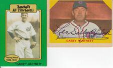 GABBY HARTNETT 1986 CHICAGO CUBS ALL-STAR HALL OF FAME CATCHER CARD WITH BONUS