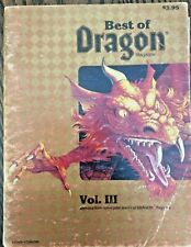 TSR Dungeons and Dragons - BEST OF DRAGON MAGAZINE VOLUME III - 1983