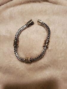 John Hardy 925 And 18k Bracelet