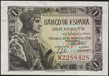 Spanien / Spain 1 Peseta 1943 Pick 126 (1)