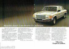 PUBLICITE ADVERTISING 116  1977   Mercedes Benz  (2p)  la 450SE