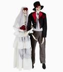 Animatronic Life Size Bride and Groom Skeleton Married Couple