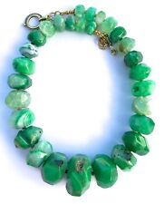 """HUGE STYLISH GREEN DRAGON VEINS STRIPED AGATE 19"""" LONG NECKLACE"""