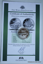 FIRST WORLD WAR MACQUARIE MINT MEDALLION AUSTRALIA FLYING CORPS SILVER WITH CERT