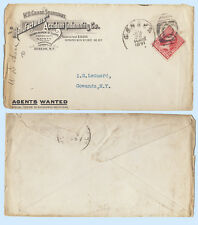 US 1891 Manufacturers Accident Insurance Geneva New York Advertising Cover