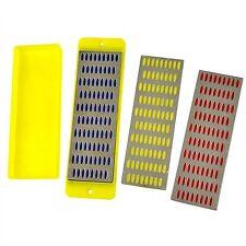 3pc Diamond Whetstone Sharpening / Sharpeners  Set of 3 with Holder New TH069