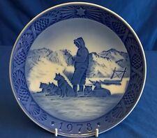 ROYAL COPENHAGEN Christmas Plate 1978 Groenlandia scenari-RAST PA slaederejsen