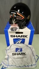 NEW Shark Heritage Blank Open Face Large Motorcycle Helmet in Gloss Black LG