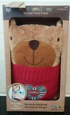 QATCH My Travel Toy/Friend London Bear Soft Toy Cuddle Cushion Red Jumper-BOXED