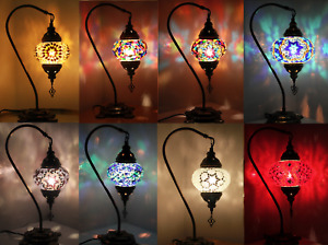 1000+ SOLD Turkish Moroccan Colourful Glass Light Desk Table Lamp FREE BULB