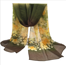 China Fashion Stylish Women Long Soft Silk Chiffon Scarf Wrap Shawl Scarves