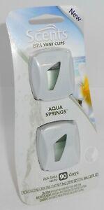 Scents 2 Pièce Spa Ventilation Clips Last Jusqu'À 90 Days Aqua Ressorts Neuf En