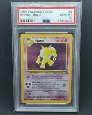 1999 Pokemon Fossil Unlimited Holo Hypno #8 PSA 10 GEM MINT