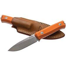 LionSTEEL Bushcraft B40 Orange Fixed Sleipner Blade Knife B40GOR