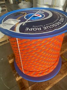 STATIC  ROPE ORANGE 11mm x 50m DONAGHYS RESPONSE CLIMBING ACCESS RESCUE ABSEIL